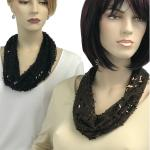 Magnetic Clasp Scarves (Sequined)