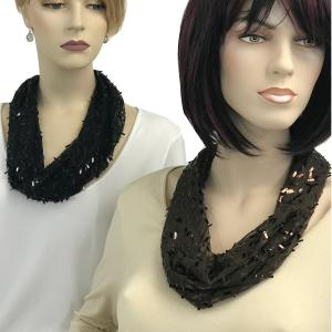 Wholesale <b>Magnetic Clasp Scarves</b> <br>(Sequined)<br>Assembled in Massachusetts
