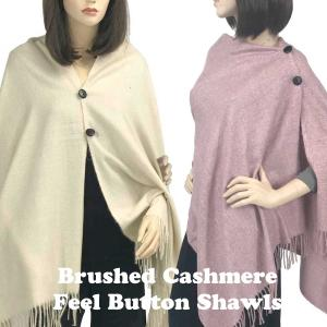 Brushed Cashmere Feel<br>Shawls with Buttons