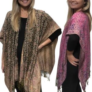 Ruana Capes<br>Pashmina Style Paisley<br>1C19