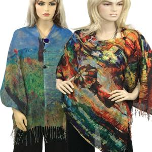 <b>Cotton Feel Art Design Shawls 