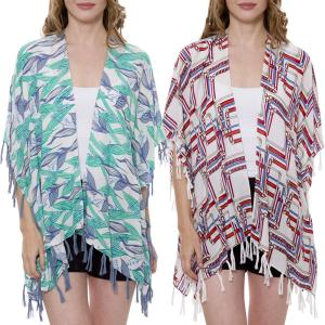 Wholesale Kimono<br>Tasseled Summer Coverup<br>1371 & 1375