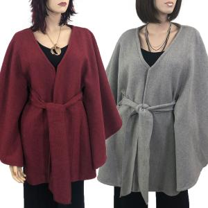Luxury Wool Feel Capes with Belt