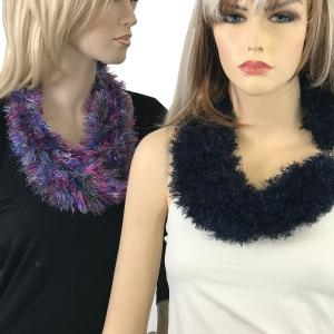 Wholesale <b>Magnetic Clasp Scarves</b><br> (Eyelash Yarn)<br>Assembled in Massachusetts