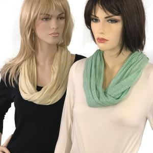 Wholesale <b>Magnetic Clasp Scarves</b><br>(Lurex Shimmer)<br>Assembled in Massachusetts