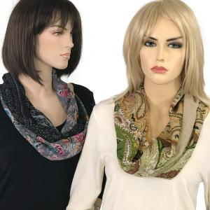 Wholesale <b>Magnetic Clasp Scarves</b><br>(Gypsy Prints)<br> Assembled in Massachusetts