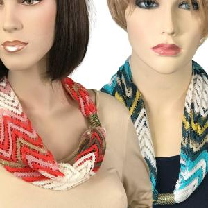 Wholesale <b>Magnetic Clasp Scarves</b> <br>(Chevron Lace)<br>Assembled in Massachusetts
