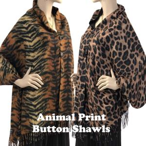 Animal Print Shawls w/Buttons