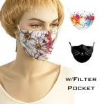 Protective Masks by Jessica with Filter Pocket