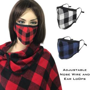 Protective Masks by Max - Buffalo Plaid