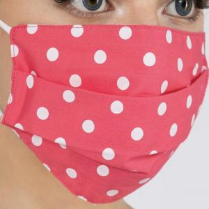 Wholesale Protective Masks - Pleated Polka Dots