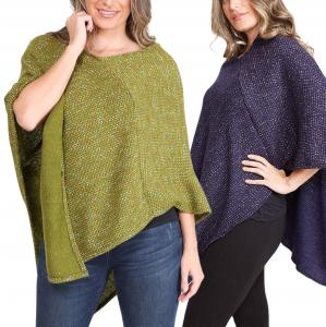 Wholesale Poncho - Mottled Tweed 1691