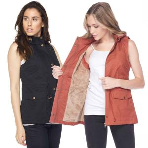 Wholesale Safari Vest  - Fur Lined  8557