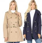 Coat - Double Breasted Trench Coat 2565