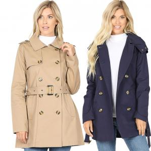 Wholesale Coat - Double Breasted Trench Coat 2565