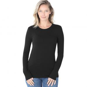 Wholesale Tops - Cotton Slim Fit Long Sleeve Round Neck 3320