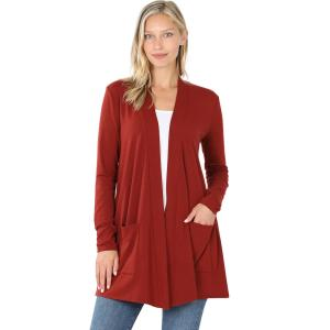 Wholesale Slouchy Pocket Open Cardigan 1443
