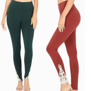 Wholesale Leggings Ankle Patch Full Length Leggings 1833