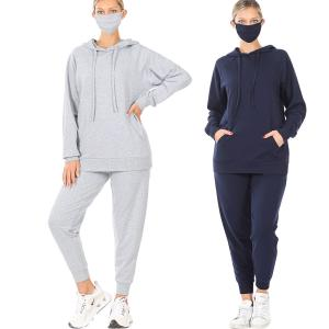 Wholesale Raglan Sleeve Hoodie & Jogger with Mask-39055