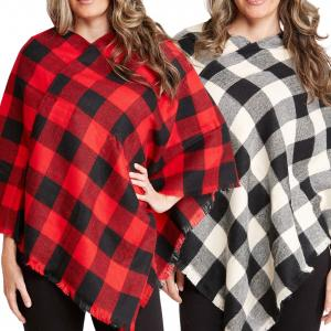 Wholesale Poncho - Buffalo Plaid 1674