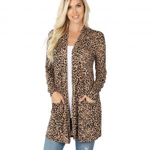 Wholesale Slouchy Pocket Open Cardigan Prints 320