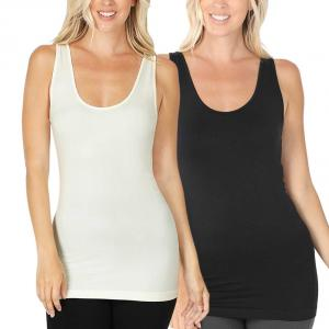 Wholesale Form Fit Scoop Neck Seamless Tank Top 6700
