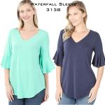 Waterfall Sleeve Top 3138