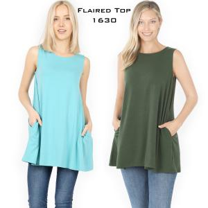 Wholesale Flared Top with Pockets - 1630