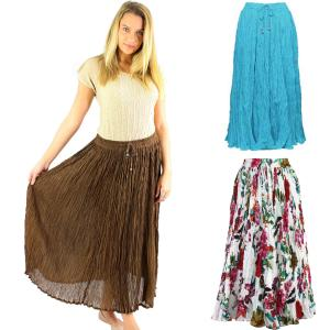Skirts<br>Long Cotton Broomstick<br>with Pocket<br>503