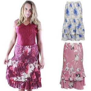 Skirts<br>Satin Mini Pleat<br>Tiered<br>One Size (S-XL)