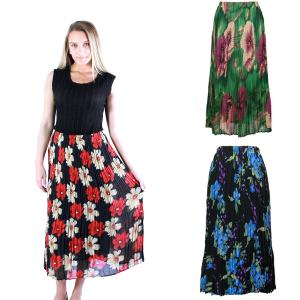 Wholesale Skirts<br>Georgette Mini Pleat<br>Ankle Length<br>One Size (S-XL)