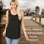 Modal Sleeveless Tops 8507