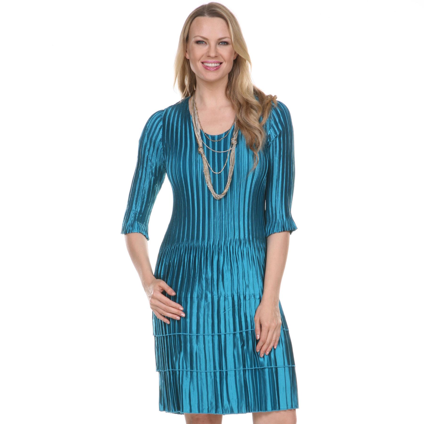 Satin Mini Pleat Dresses