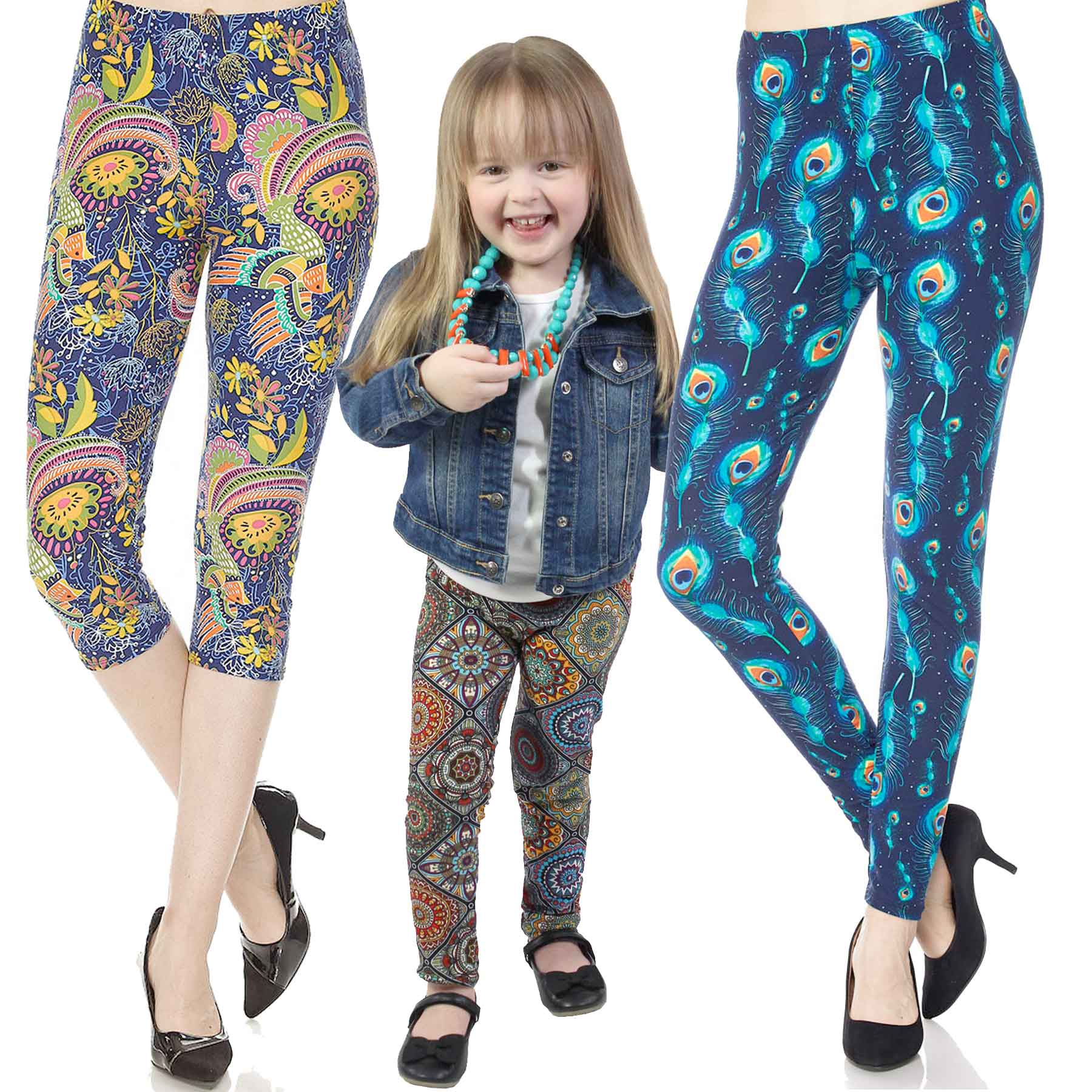 Brushed Fiber Leggings, Capris, & Kids Sizes