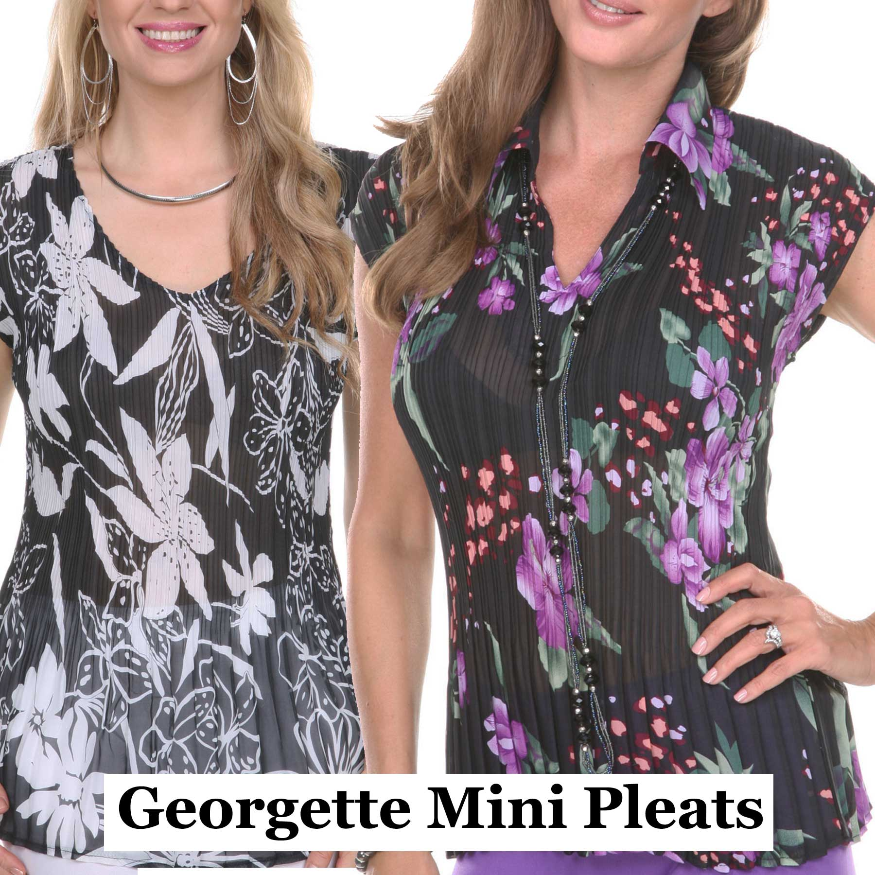 The Georgette Mini Pleat Collection