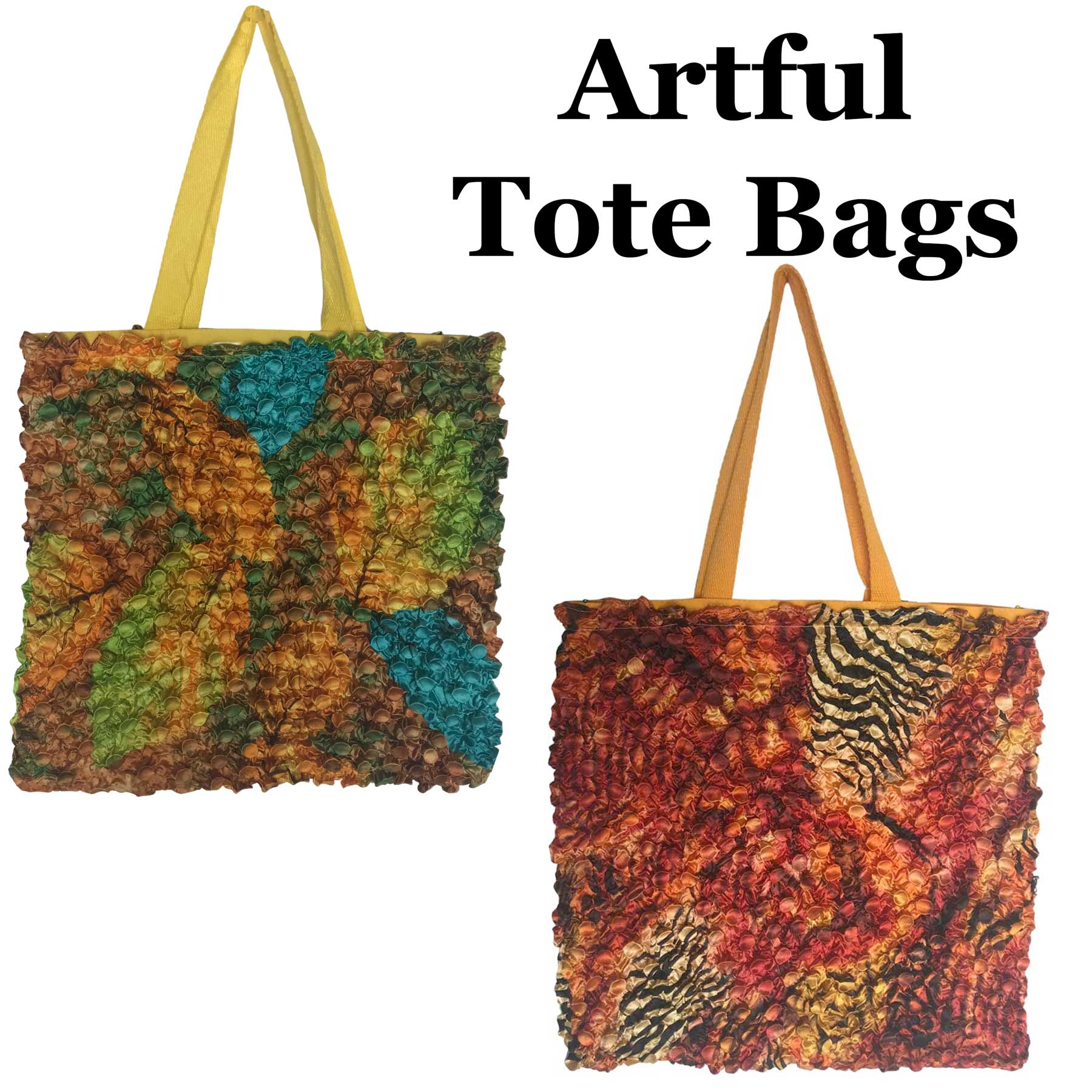 Artful Fabric Covered Totes