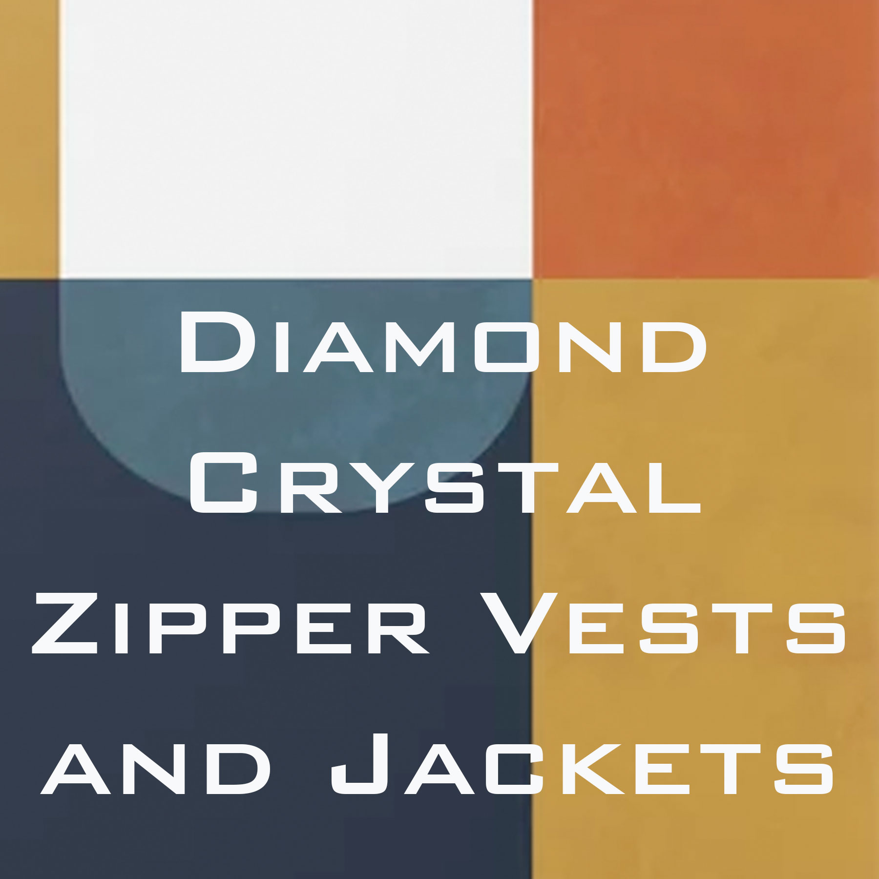 Wholesale Diamond Crystal Zipper Vests and Jackets