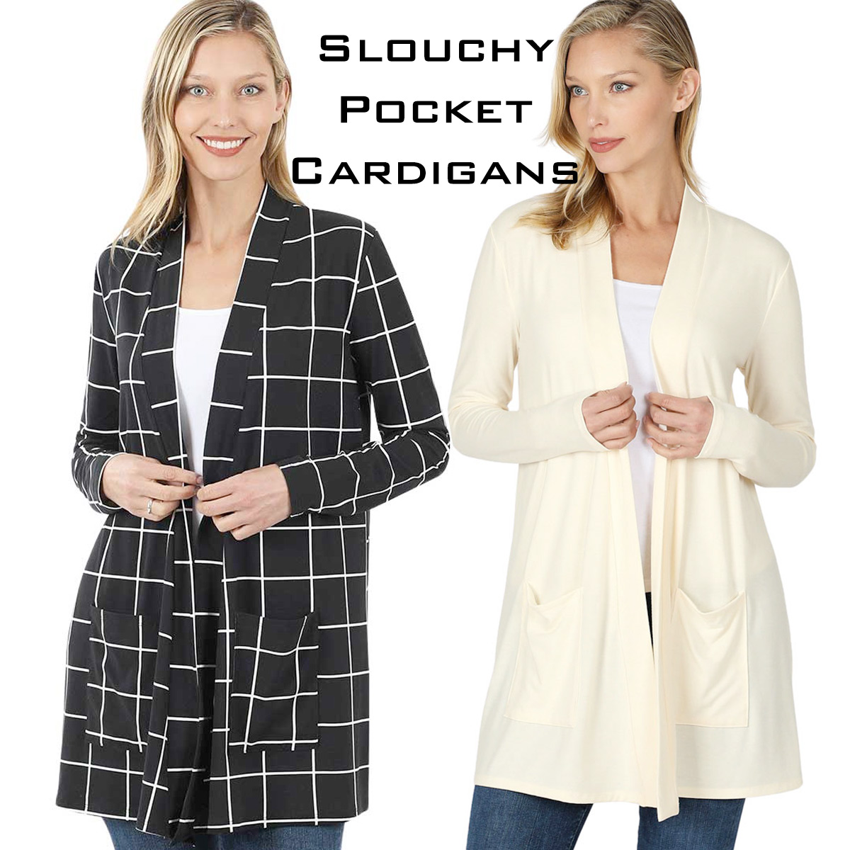 Wholesale Slouchy Pocket Cardigans