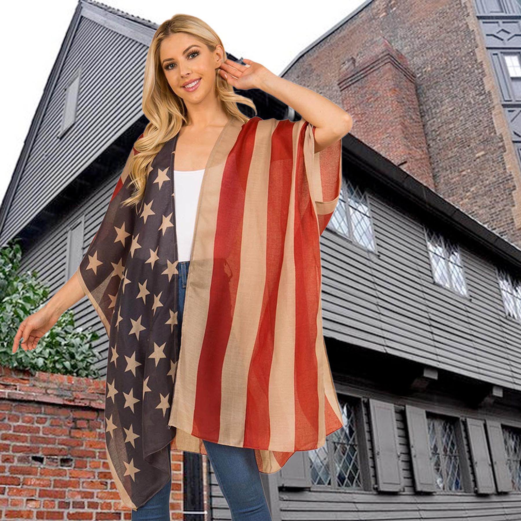 Wholesale American Flag Kimonos