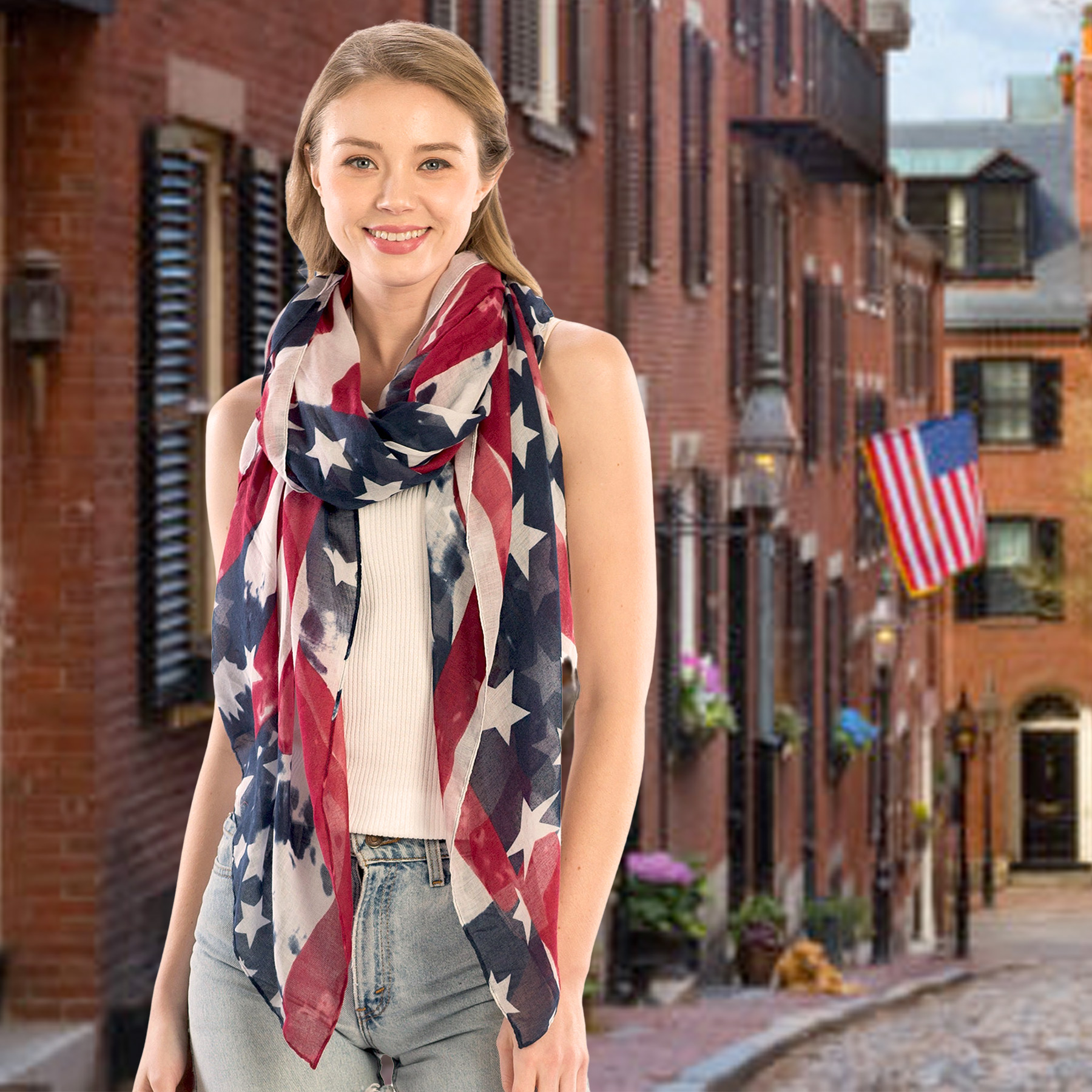 Wholesale American Flag Scarves