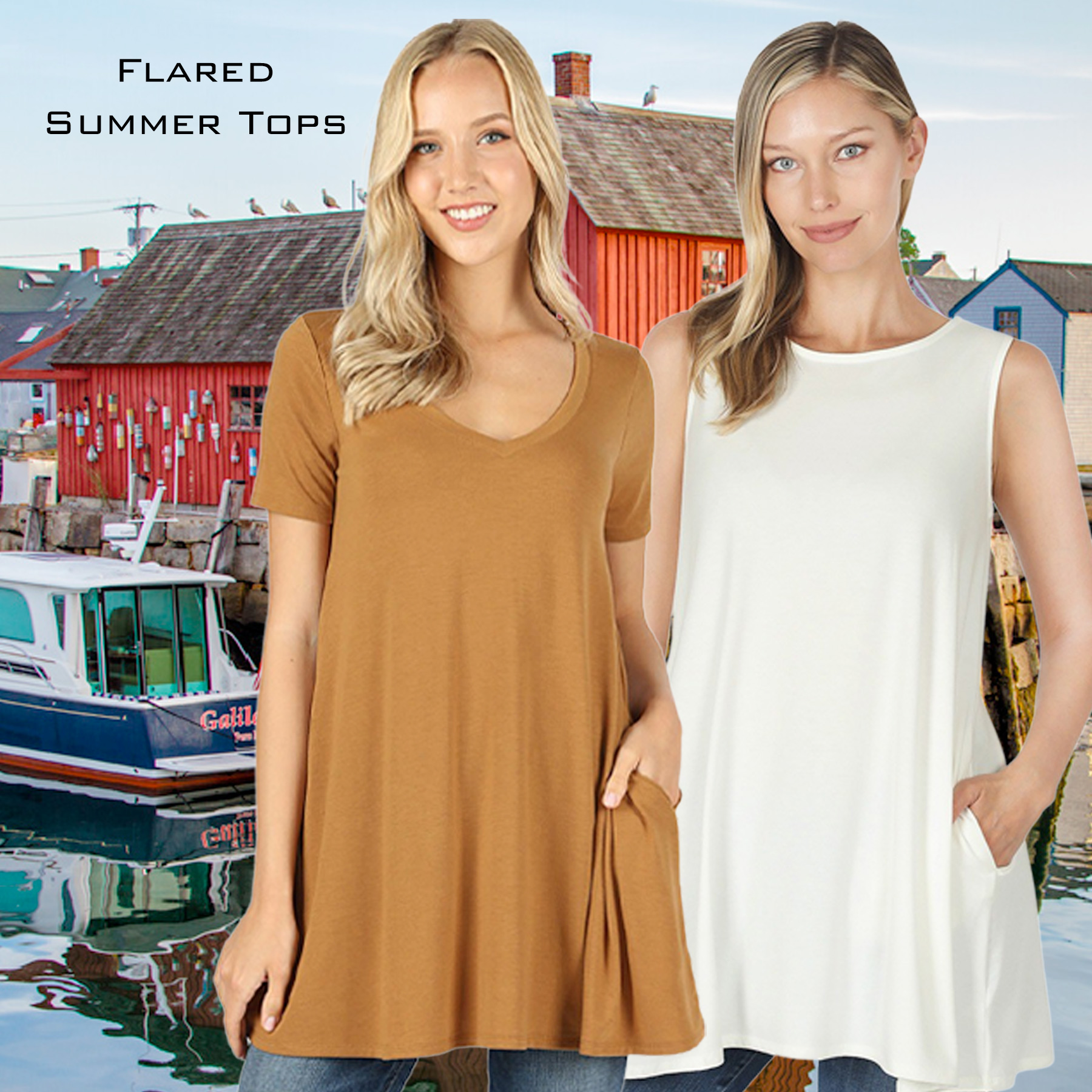 Wholesale Flared Summer Tops