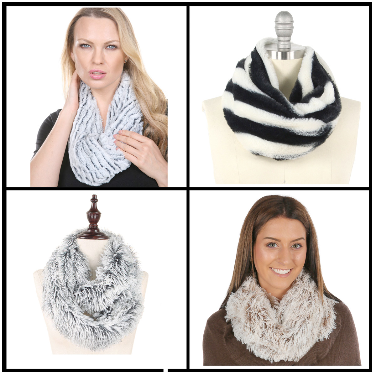 Wholesale Fall/Winter Infinity Scarves - Faux Fur