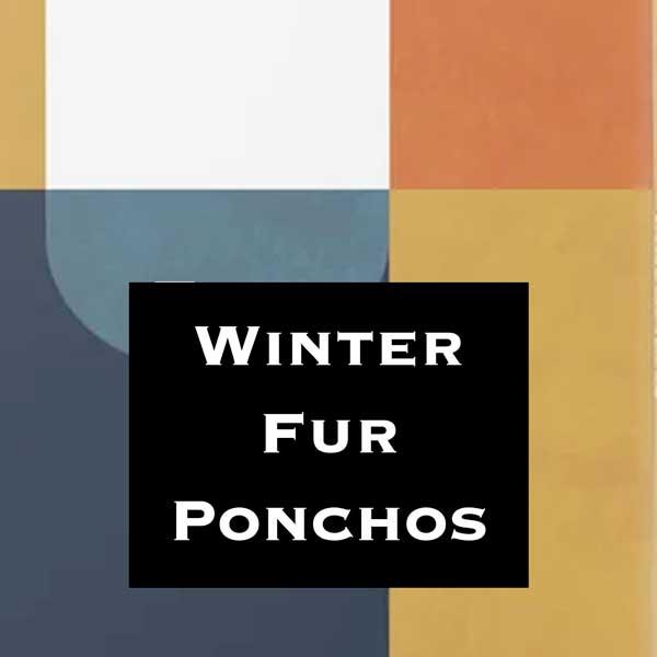 Wholesale Winter Ponchos -  Faux Fur and Fur Trim