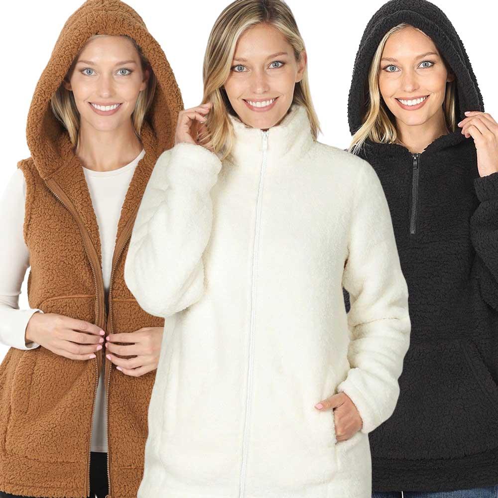 Wholesale Soft Plush Sherpa Styles