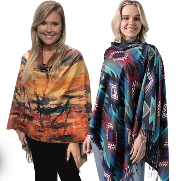 Button Scarves & Shawls