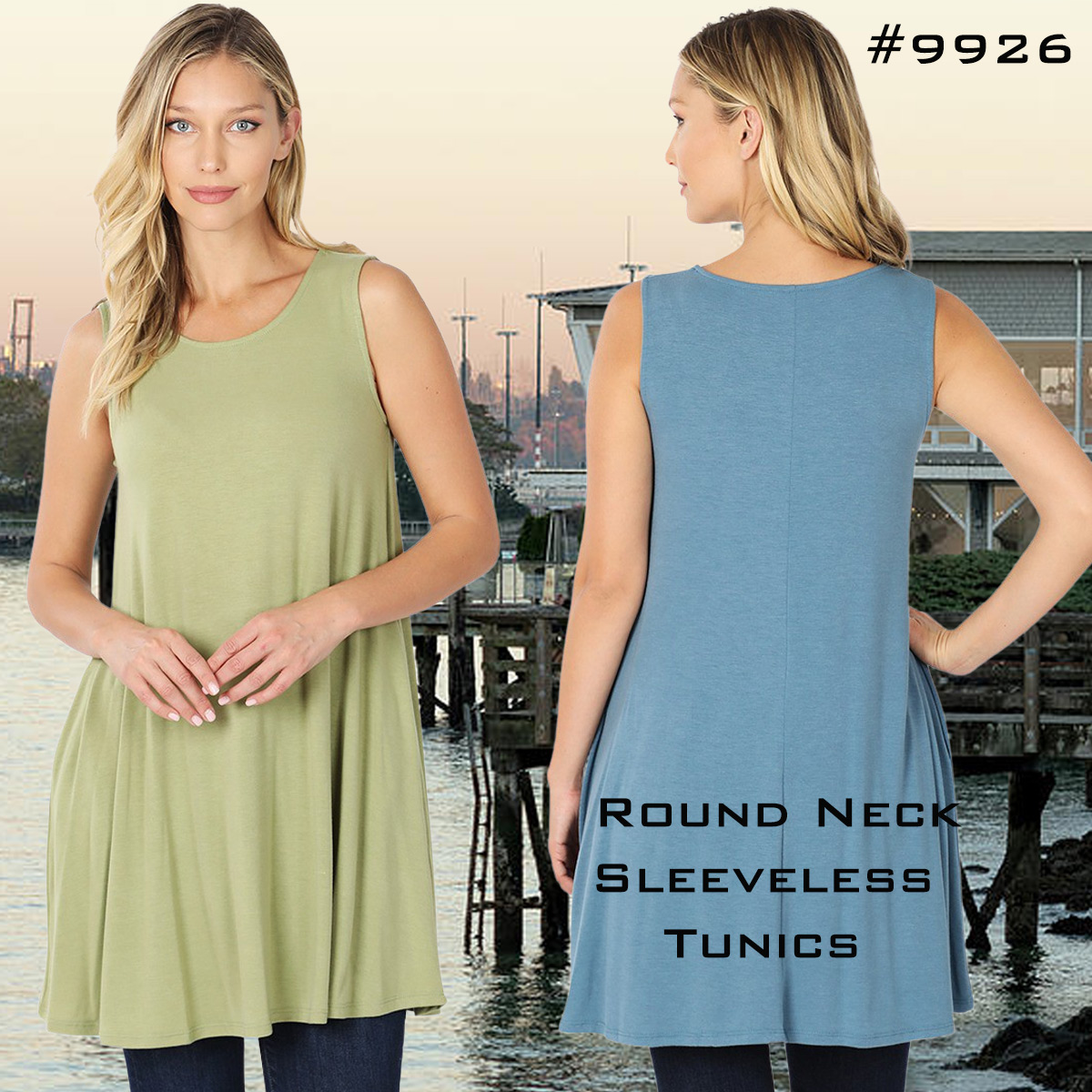 Sleeveless Tunics 9926