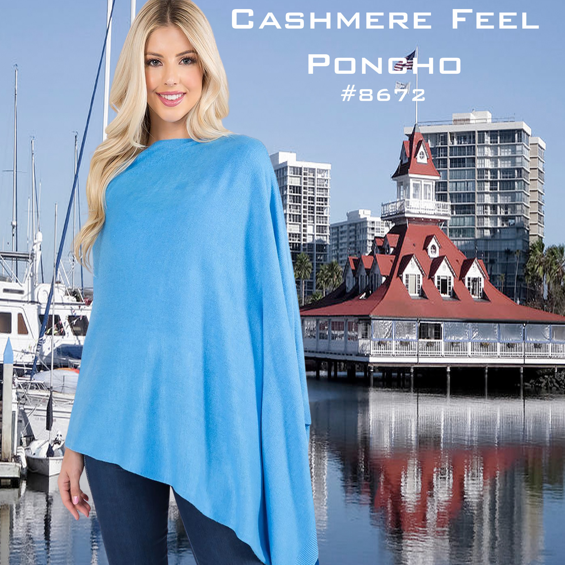 Cashmere Feel Ponchos 8672