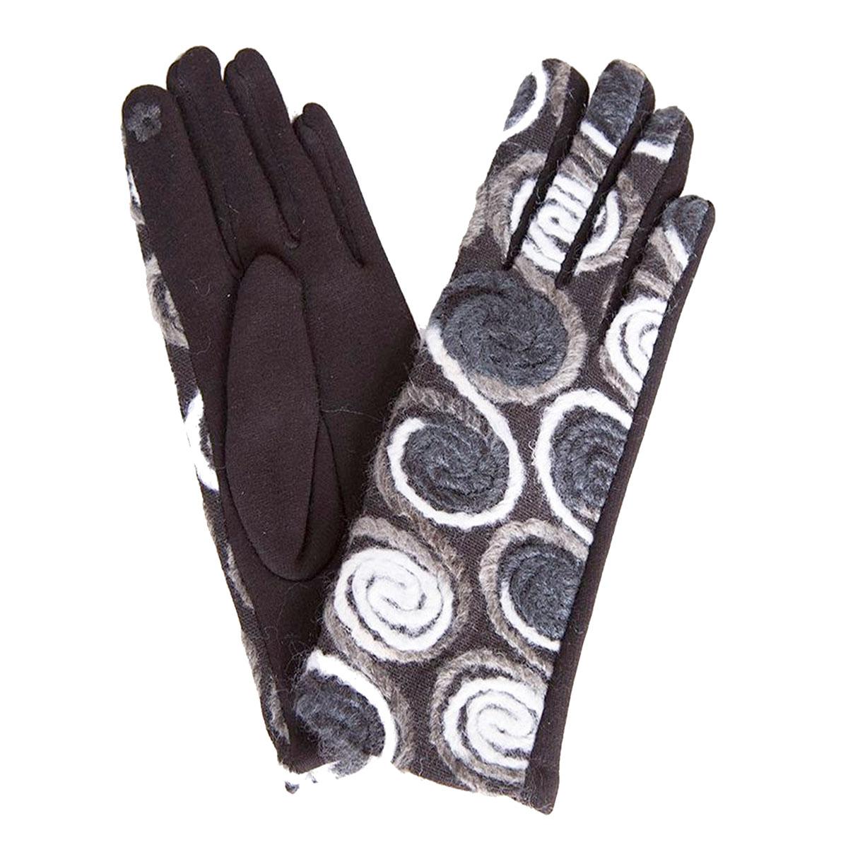 Touch Screen Smart Gloves - Fleece Lined  843-MU Spiral Yarn Mustard - One Size