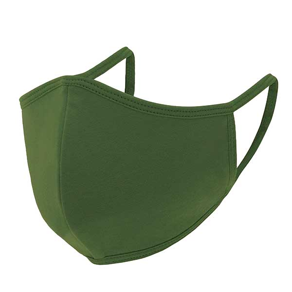 Protective Masks Multi Layer by Lola  TS03 Triple Ply 95% Cotton 5% Spandex  (Green) - Masks Multi Layer by Lola  -
