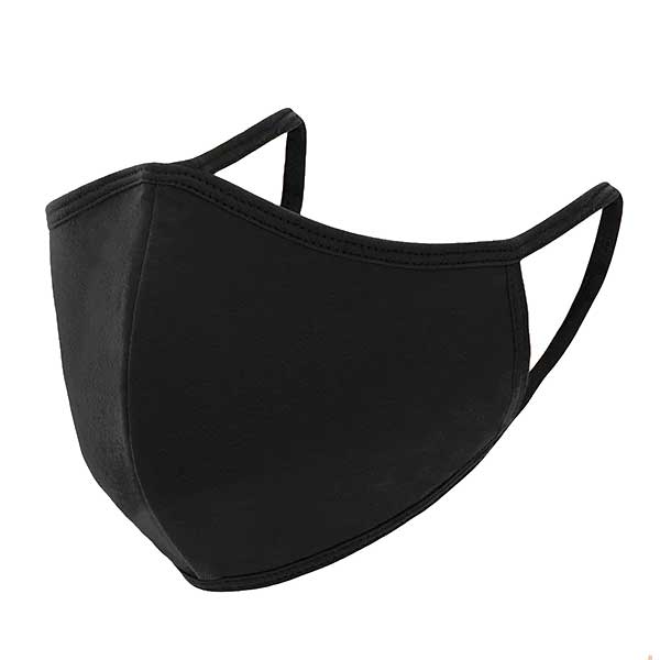 Protective Masks Multi Layer by Lola  TS03 Triple Ply 95% Cotton 5% Spandex  (Black) - Masks Multi Layer by Lola  -